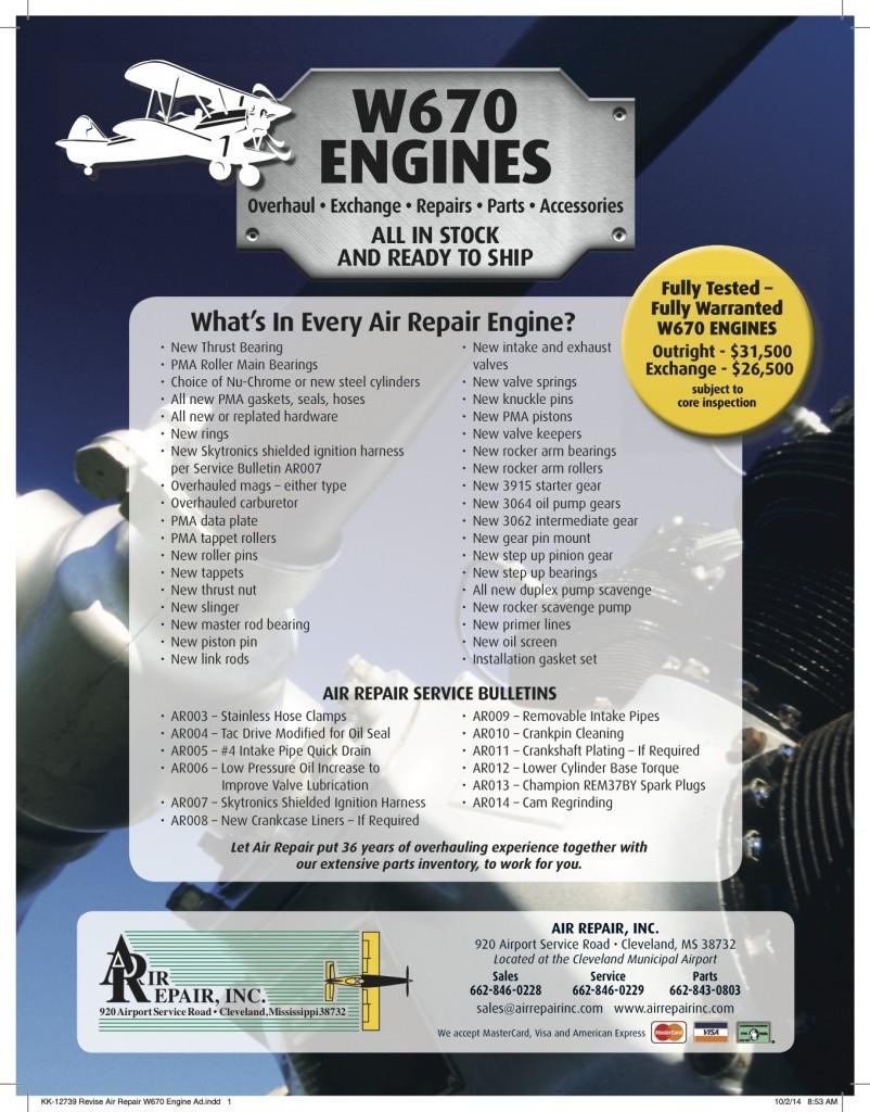 KK-12739 Revise Air Repair W670 Engine Ad (PRESS)