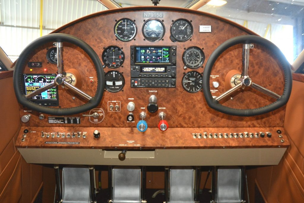 RARE Aircraft Stinson Gullwing custom instrument panel.